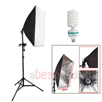 135W Softbox Continuous Lighting Photography Studio Softbox Light Stand Kit UK