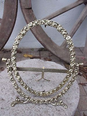 Antique Or Vintage Ornate Brass Victorian Style Picture Frame Tilt Adjustable