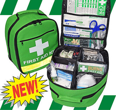 FIRST AID BACKPACK - Green Premium - EMPTY BACKPACK ONLY - NO CONTENTS
