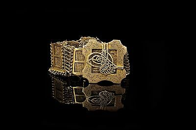 Antique  Gold Plated Silver  Ottoman Amazing Tugra Decorated Amazing Belt