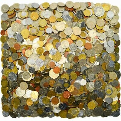 Lot Of 200 Exotic Coins From Asia, Africa, Caribbean & Oceania, South America