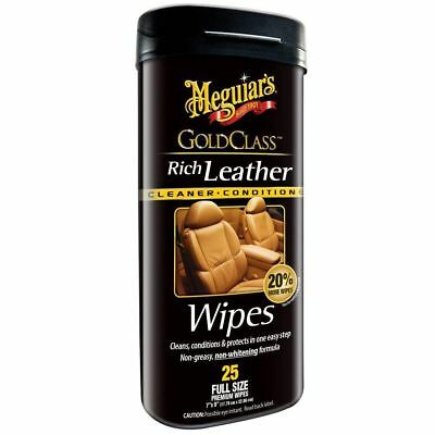 Meguiars Gold Class Rich Leather Premium Wipes G10900 Free Shipping!