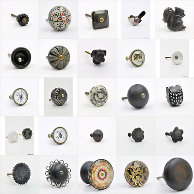 Black Coloured Cupboard Knobs Handles Pulls For Furniture Dressers Drawers UK Kn
