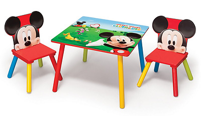 Delta Children Mickey Mouse Table and Chairs, Kids Activity Table & 2 Chairs