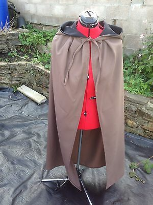hooded cloak brown. Black  lined hood more colours available medieval