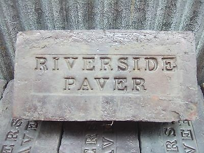 2 Antique Vintage Collectable Riverside Paver Street Sidewalk Patio Brick