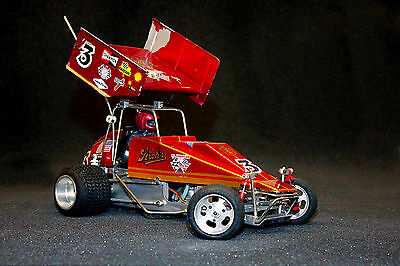 Vintage Moody RC Sprint Car 1/8 Scale Dirt set up