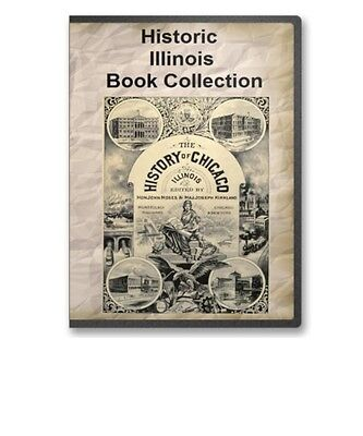 41 Old Illinois IL State County History Family Tree Genealogy Books - B315