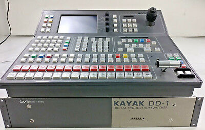 Kayak DD-1 Digital Production Switcher /w Control Panel (Grass Valley)