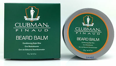 Clubman Beard Balm Conditioning Style Wax 2 oz