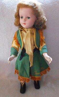 17in Annie Oakley 1950's Sweet Sue American Character Doll Hard Plastic ORIGINAL