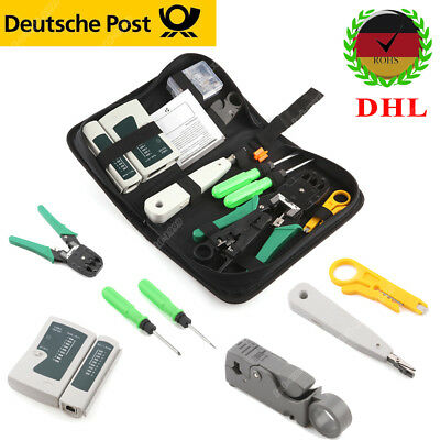 LAN Ethernet Netzwerk Patchkabel Tester Checker&RJ11 RJ45 Crimp Repair Tool Kit