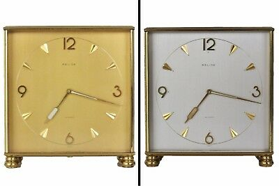 Vintage RELIDE Partners Clock Double Sided Brass Swiss Desk 1960's Parts Repair