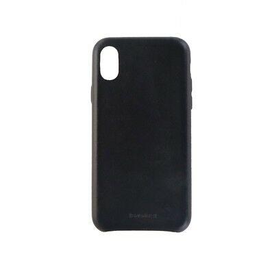 Granite Slim Genuine Leather Case Cover for Apple iPhone X 10 - Black Leather