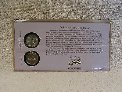 2009 Guam - First Day Cover - Sealed Cello - P & D Mint State Quarter  - WB3