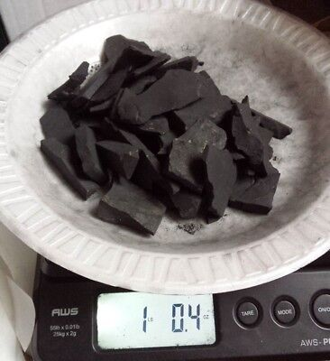 SHUNGITE STONES XL pieces 1 LB healing mineral from Karelia Russia K27