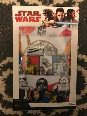 Brand New In Box Star Wars: The Last Jedi 5 Pack Boys' Briefs - Size 4, 6 Or 8