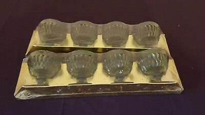 2 SETS INDIANA GLASS MT VERNON 6oz FOOTED SHERBET GLASSES RARE SEALED PACKAGING