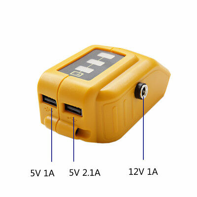 Replaces Dewalt DCB091 Battery USB Charging Adapter DC 12V Output Heated Jackets