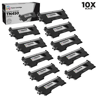 LD For Brother 10pk TN450 HY Toner DCP-7060D 7065DN 2130 2132 2230 2240
