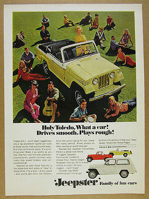 1967 Jeep JEEPSTER Convertible yellow jeep photo vintage print Ad