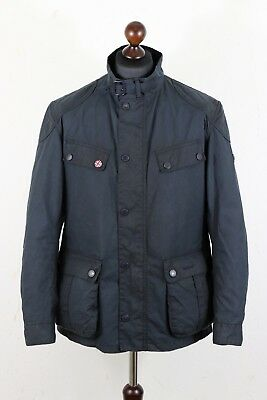 Mens BARBOUR INTERNATIONAL Simonside Sylkoil Finish Jacket size L Union Jack
