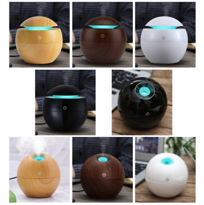 Mini Wooden Aromatherapy Humidifier Aroma Diffuser Essential Oil Air Purifier