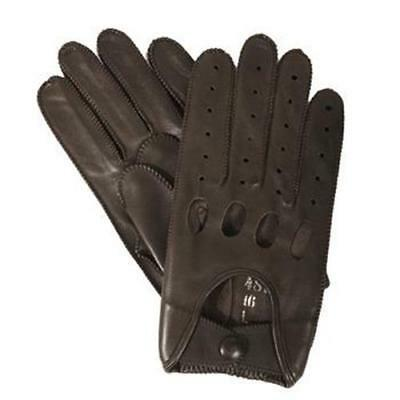 """MENS UNLined Isotoner Signature Genuine LEATHER Driving Gloves BROWN 9"""""""