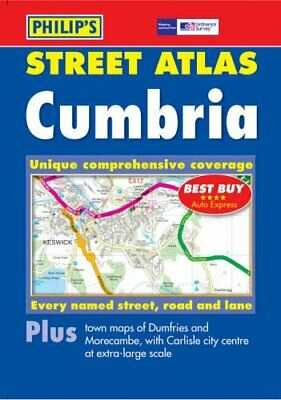 Philip's Street Atlas Cumbria Spiral bound Book The Cheap Fast Free Post