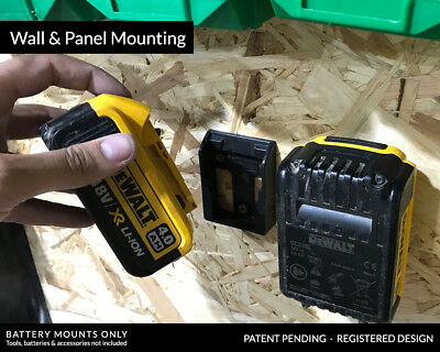 10x Stealth Mounts For Dewalt 20v 18v Battery Holder