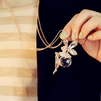 Gold Crystal Butterfly Fairy LongNecklace
