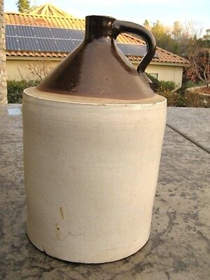 Vintage Antique Stonewear Crown Pottery Robinson Ransbottom 5 Large Jug