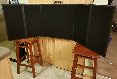 Folding Table Top Trade Show Display 6'x2' - Black Velcro Ready - Carrying Case