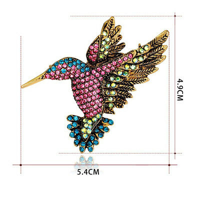 Scarf Hijab Broches Vintage Hummingbirds Pin Bouquet Brooch Jewelry