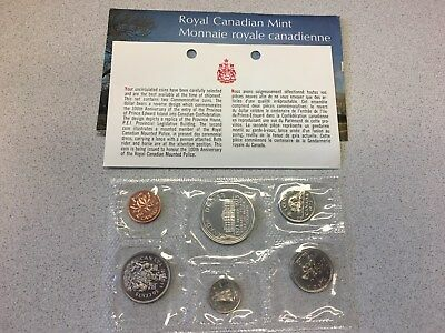 1973 Canada Uncirculated Proof Like Set With Large Bust 25 Cent Coin(high Grade)