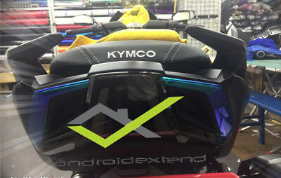 Kymco Ak550 Rear Tail Lights Neon Decals / Protective Foiils