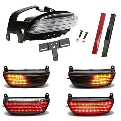 Tri-Bar Fender LED Tail Signals Light For Harley Dyna Fat Bob FXDF 2008-2013 KY