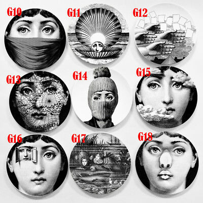"Simple Fornasetti Wall Hanging Plate Vintage Piero 8"" Italy Art Beauty Craft"