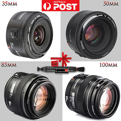 Yongnuo YN 100mm 85mm 50mm 35mm AF MF EF Prime Fixed Lens For Canon 6D 550D 600D