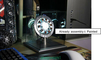 Hot Master Grade Iron Man Mk1 Arc Reactor With Metal Ring Display Case Usb