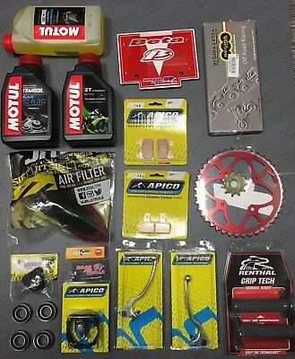 Beta Evo Trials Service Kit 4 Motul Oil AirFilter Chain Sprocket Levers 09-18