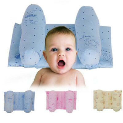 Baby Pillow Infant Newborn Anti Flat Head Syndrome for Crib Cot Bed Soft Velve