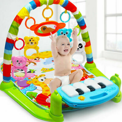3 In 1 Multifunction Baby Gym Mat Carpet Floor Piano Activity Soft Music Blanket