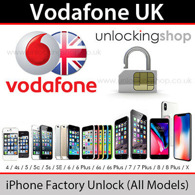 Vodafone UK iPhone Factory Unlock Service (All Models inc 8/8+/X Supported)