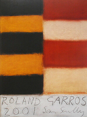 Sean Scully Lithographie Roland Garros 2001 signed