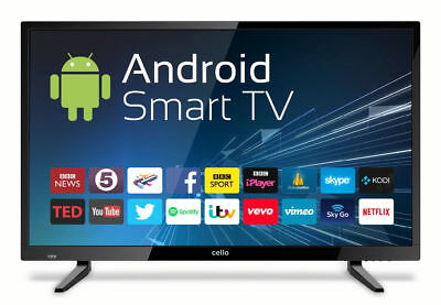 "32"" Zoll LED Cello Smart TV 81cm HD Android Fernseher DVB-T2/C, WLAN, HDMI, USB"