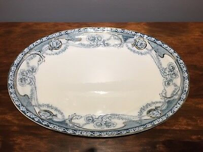 Royal Staffordshire RENOWN FLOW BLUE 14  1/2 x 10 1/2 Oval Meat Platter
