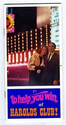 Harold's Club Casino Gaming Guide Reno Nevada 1960's To Help You Win