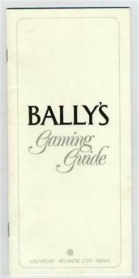 Bally's Gaming Guide Las Vegas Atlantic City Reno 1980's Craps Roulette Baccarat
