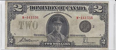 1923 Dominion of  Canada 2 Dollar Note McCavour/Saunders Black Seal
